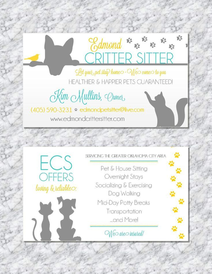 Pet sitting business card animal business card pet sitter business modern pet sitting business cards by trusner designs visit us on facebook to see much reheart Choice Image