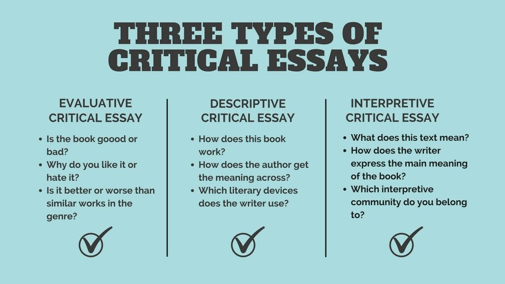 Critical writing essay