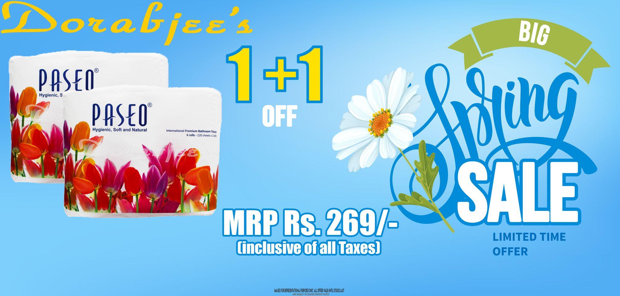 Dorabjees Big Spring Sale 1 Offers Paseo International Premium Tissue Bathroom