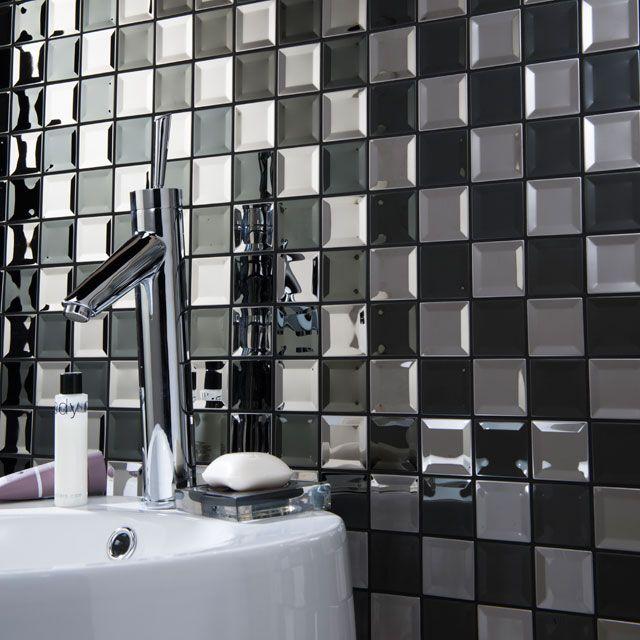 Mosaique Noire 29 7 X 29 5 Cm Kosuke Castorama Mosaique Carrelage Mosaique