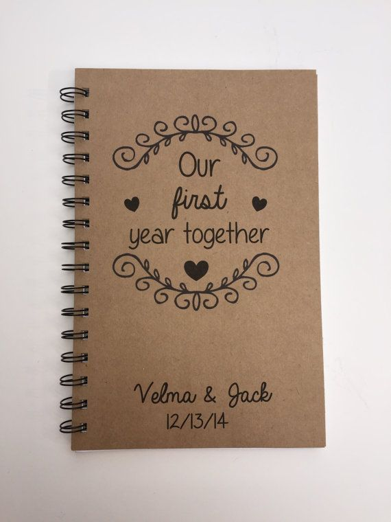 Our First Year Together Anniversary Gift First Wedding Etsy Anniversary Scrapbook One Year Anniversary Gifts First Wedding Anniversary