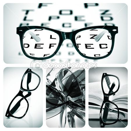 Eyeglasses collage — Stock Image #17200037