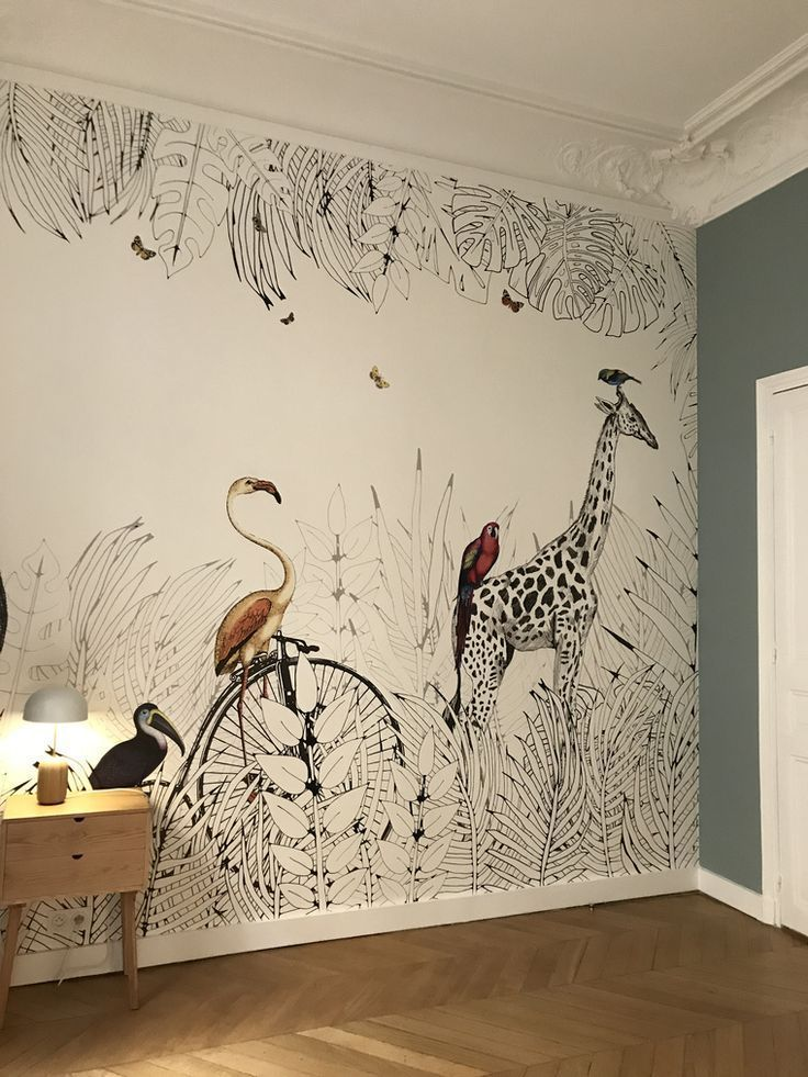 schöne Tapete! #estellanyc #room #idea #animalcraftsforkids
