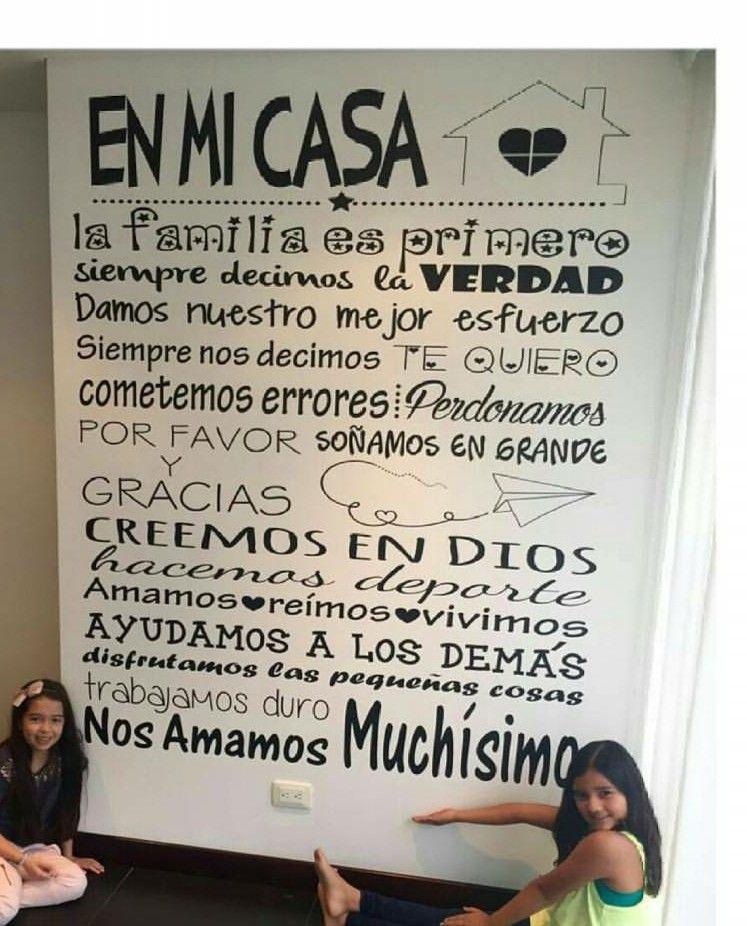 Pin De Yeni En Cuadros Reglas De La Casa Decoracion De Pared