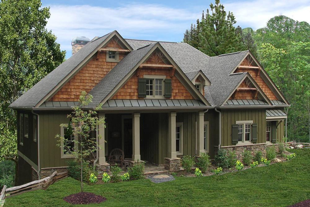 House Plan 699 00059 Ranch Plan 1 997 Square Feet 3 Bedrooms 3 Bathrooms Craftsman House Plans Mountain House Plans Cottage Floor Plans