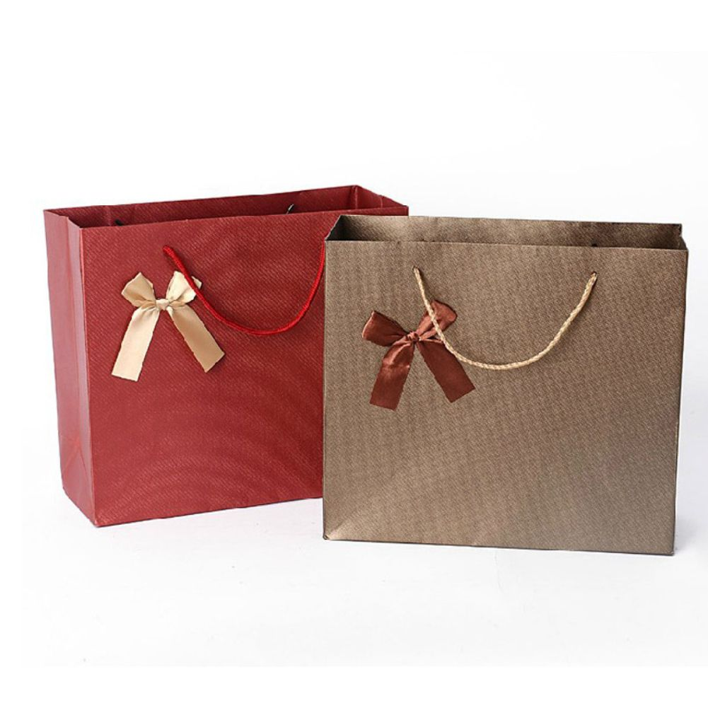 Kraft Paper Ribbon Bowknot Treat Present Gift Bag Wedding Birthday Party Favour In 2020 Bride Gift Bags Paper Gifts Print On Paper Bags