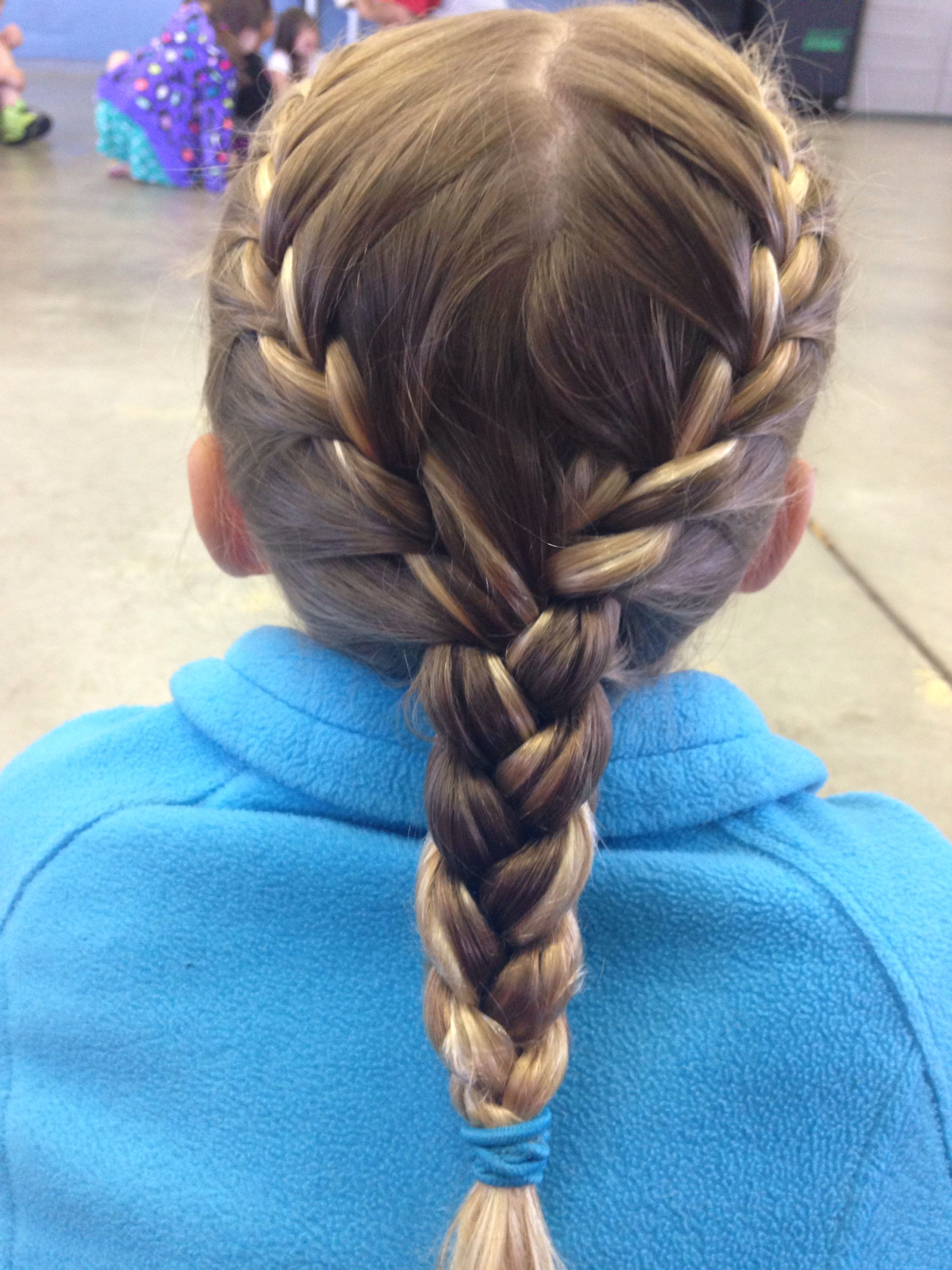 Two French Braids Into One Braid Braided Hairstyles Updo Two French Braids Hair Styles