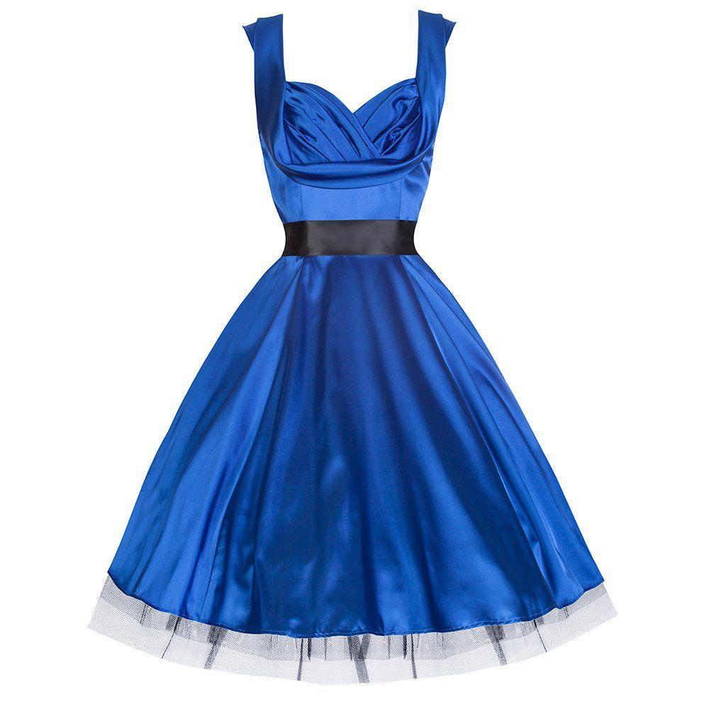 Pretty Kitty Blau Satin-Swing-Kleid | Unbedingt kaufen | Pinterest ...