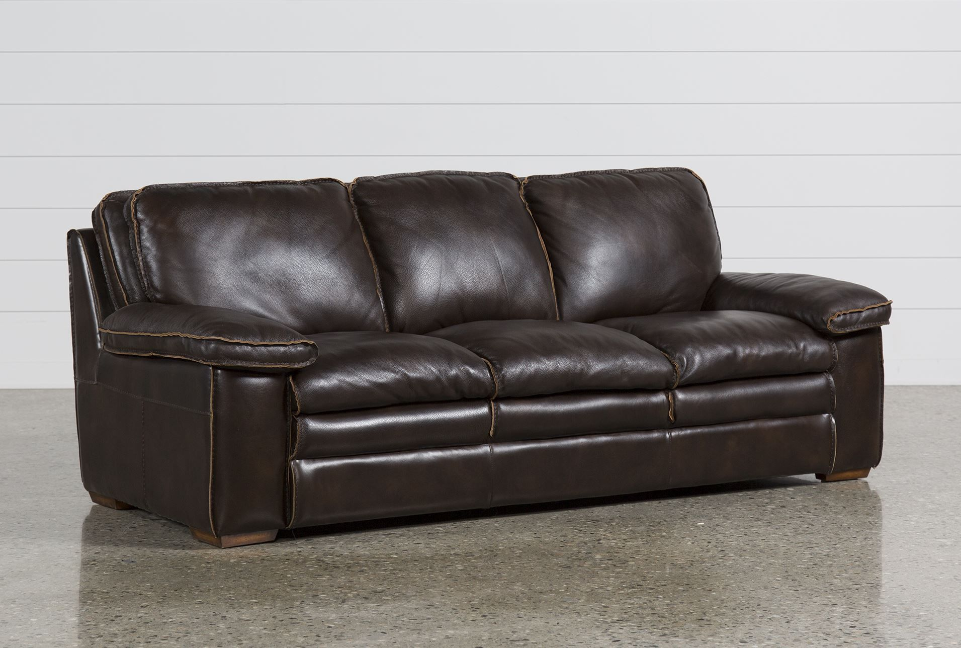Black Leather Sofa – Contemporary Sofas Beautifying Living Room