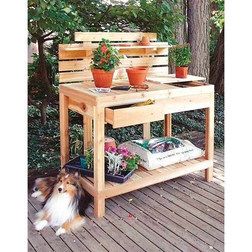 planting bench...this would be great for our back yard !  :-)