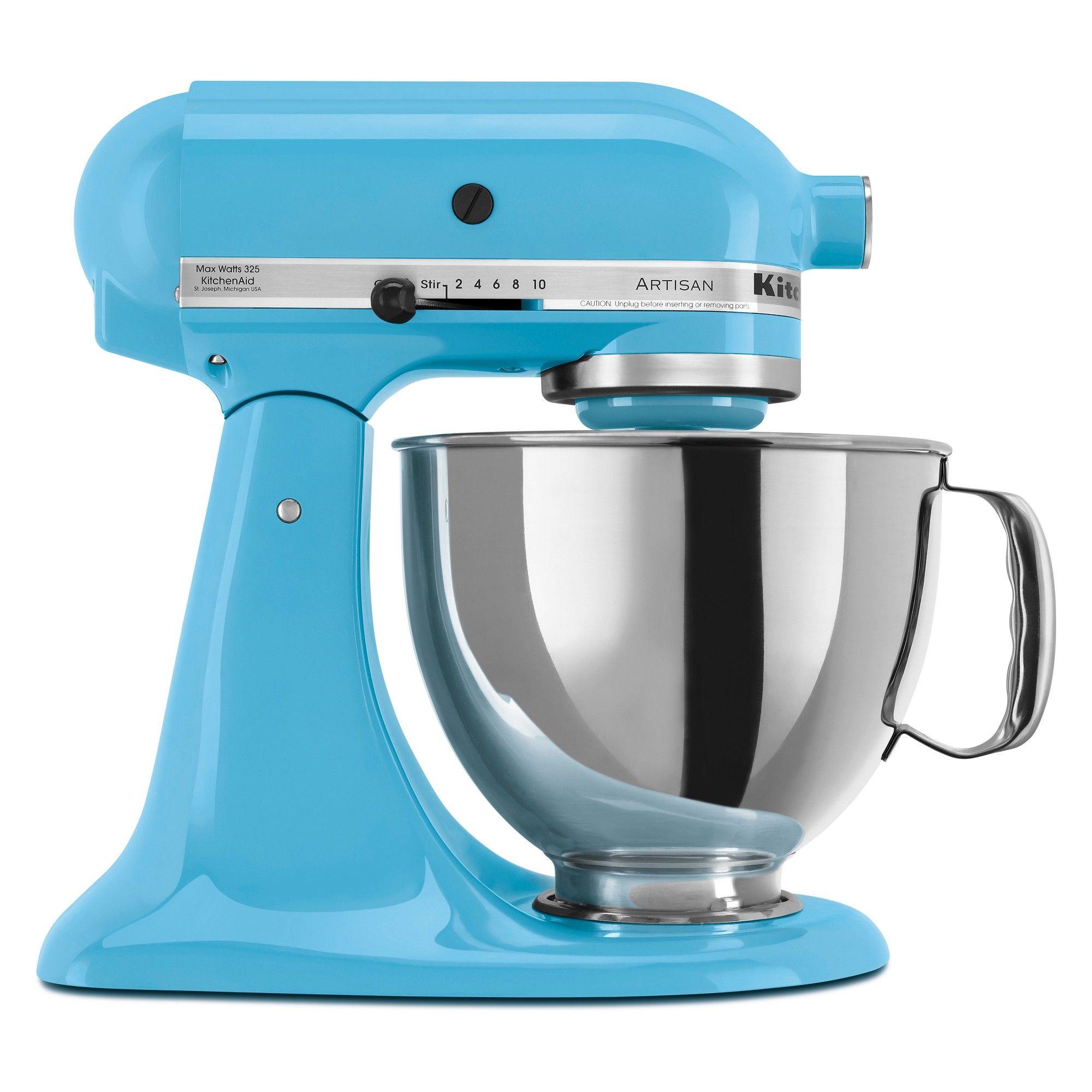 KitchenAid Refurbished Artisan Series Stand Mixer - Crystal Blue ...