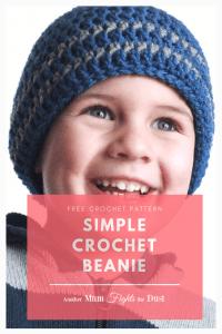Simple Crochet Beanie Free Pattern #kidsmessyhats