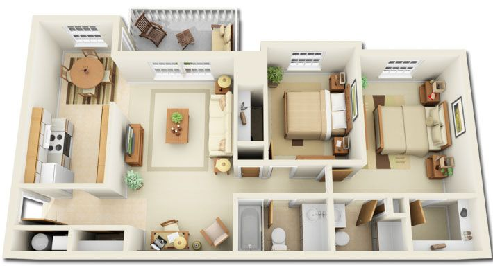 Simple 2 Bedroom House Designs Entrancing Pinewood Glen And Spruce Creek Apartments  结构  Pinterest Design Ideas