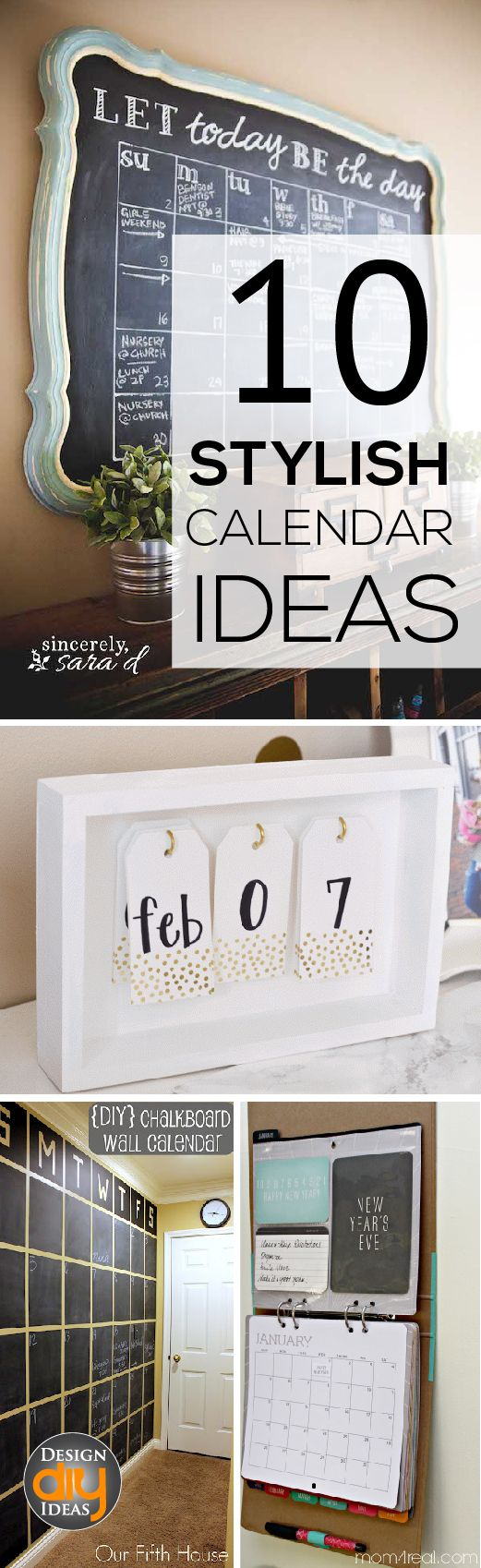 Calendar Ideas For Home : Clear calendars make it easy for the whole family check out these