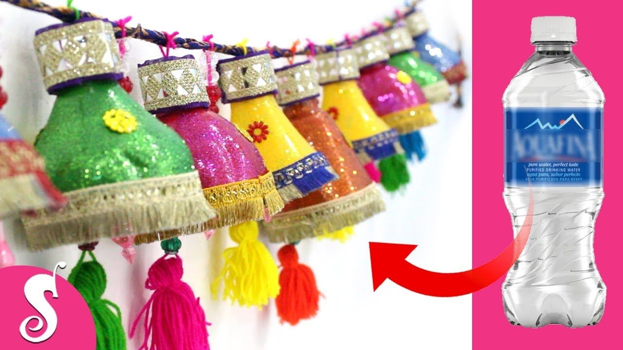Make Door Hanging Toran From Waste Water Bottles Door Decorating