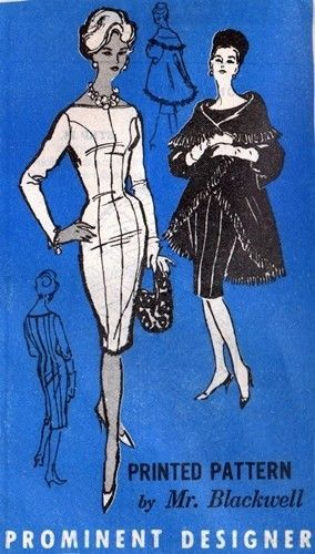 1950er Jahrgang Schnittmuster B38 MANTEL & WIGGLE KLEID(R758R)Von Mr ...
