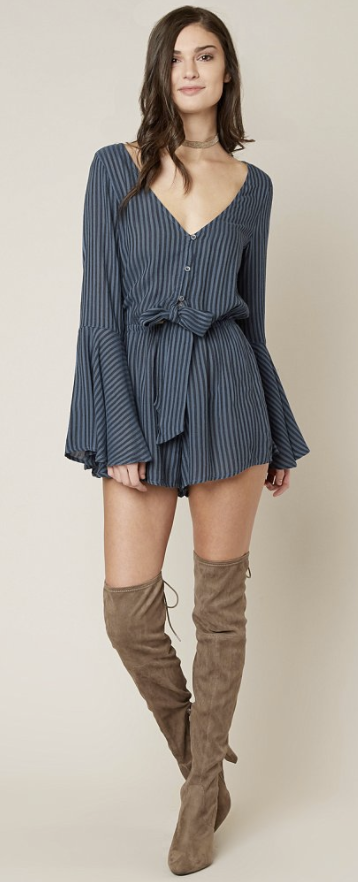 5b17a265b47 ... Women s Rompers Jumpsuits in Blue Stream. What to Wear for New Years  Eve   Billabong Sittin Pretty Romper