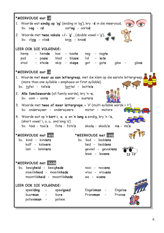 Worksheet For Grade 3 Afrikaans