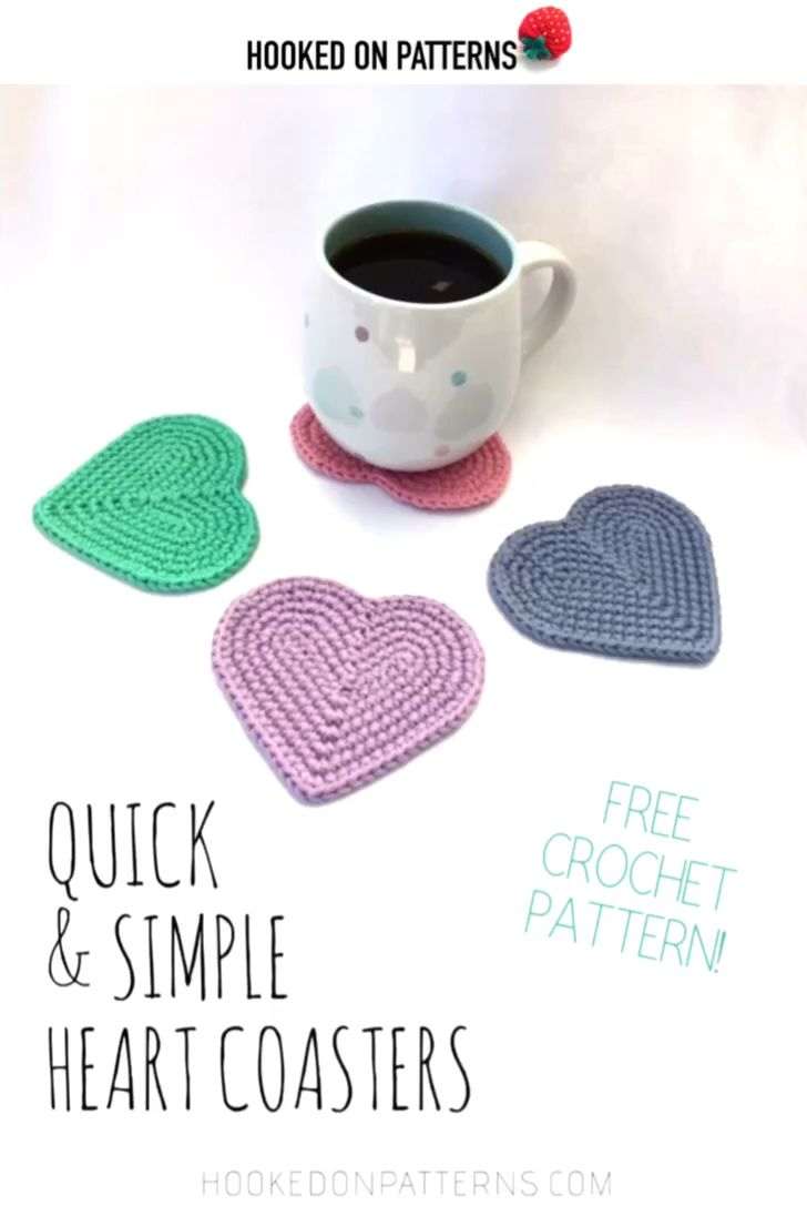 Photo of Free Easy Heart Coasters Crochet Pattern [Beginner friendly with photo tutorial]