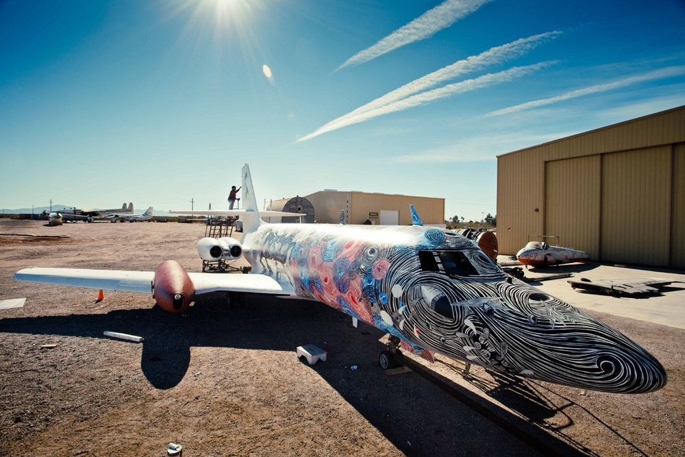 The Boneyard Project - Some amazing artwork on decommissioned planes.  http://theboneyardprojects.com