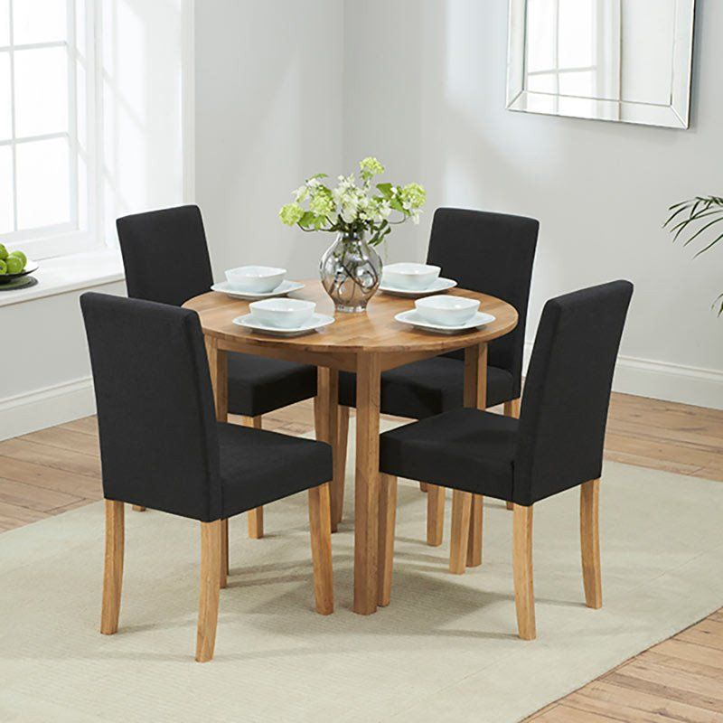 Promo Solid Oak Round Dining Drop Leaf Extending Table With 24 Inspiration Dining Room Table For 2 Inspiration