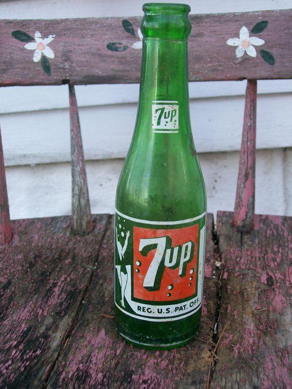 7 bottle old up Antique 7up