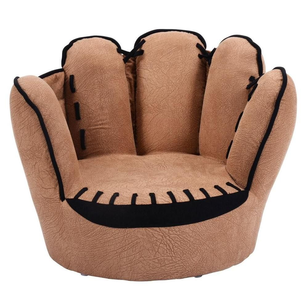 Toddler Couch Chair Kids Sofa Couch Chair Five Finger Baseball Glove Armrest Chaise