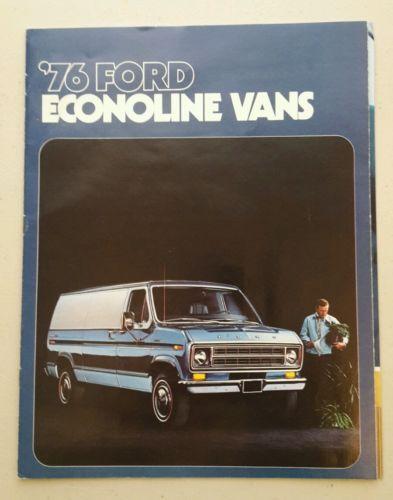 1976 ford econoline vans brochure too cool custom vans ford vans pinterest
