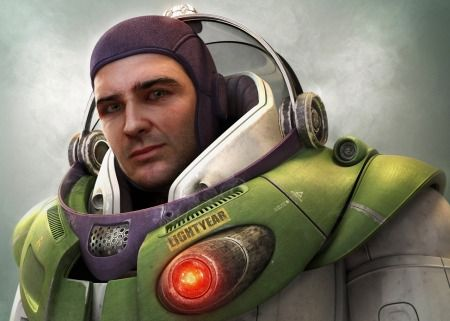 Realistic Drawings of Animated Characters Buzz Lightyear