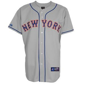 a mlb beisbol camiseta jersey new york ny mets road gris de majestic ... be6857a23c3