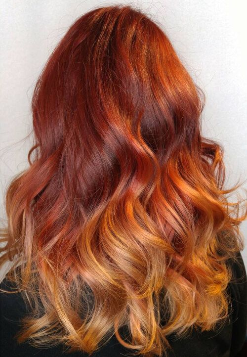 Fiery ombre hair color vlasy pinterest ombre hair color fiery ombre hair color urmus Gallery