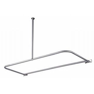 ... Your Bathroom With A New Look Starting With A Chrome Shower Rod Bath  Accessory Features A Wonderful Chrome Look Brass D Type Shower Rod Includes  30 Inch ...