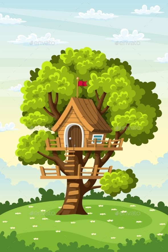 Treehouse On A Meadow Background Bush Clouds Flower House Meadow Nature Plant Play Tree House Drawing Cute Background Pictures Cartoon House See more ideas about drawings, tree house drawing, art drawings. tree house drawing