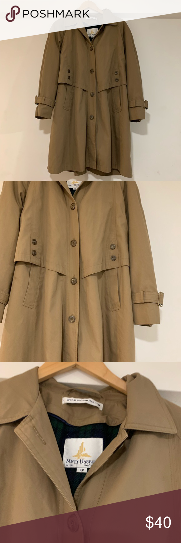 Misty harbor Paris style trench coat Misty harbor Paris style trench coat size 10p has small mark as shown in picture near waist Not noticeable This jacket is more amazin...
