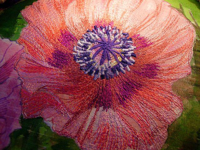 Nicky Perryman Textile Art by Nicky Perryman, via Flickr