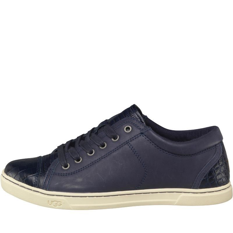 Buy UGG Womens Taya Croco Trainers Navy