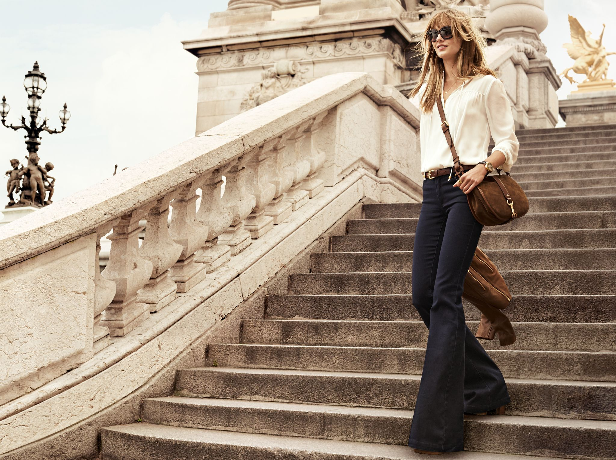 Define a chic bohemian attitude with flared denim and the for Define bohemian style