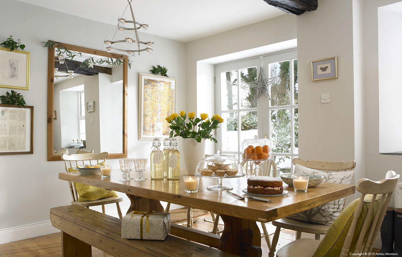The kitchen table in Nicola & Andy Nemec's farmhouse near