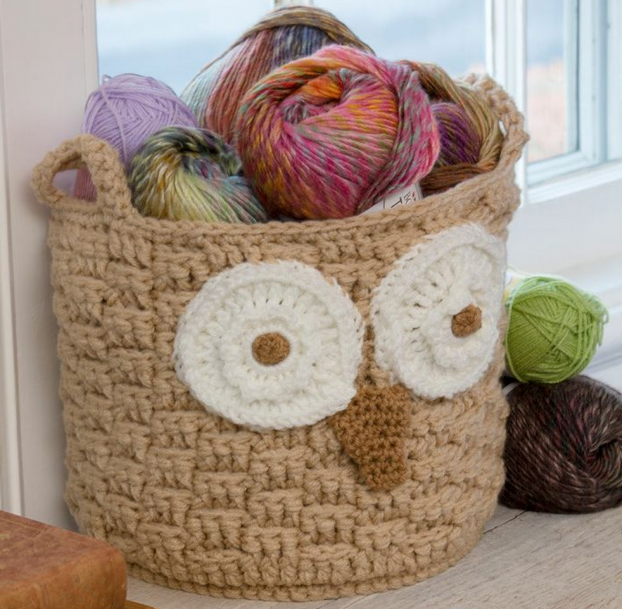 You'll love to make this Owl Storage Basket and it's a FREE Pattern.  It would make a gorgeous gift.