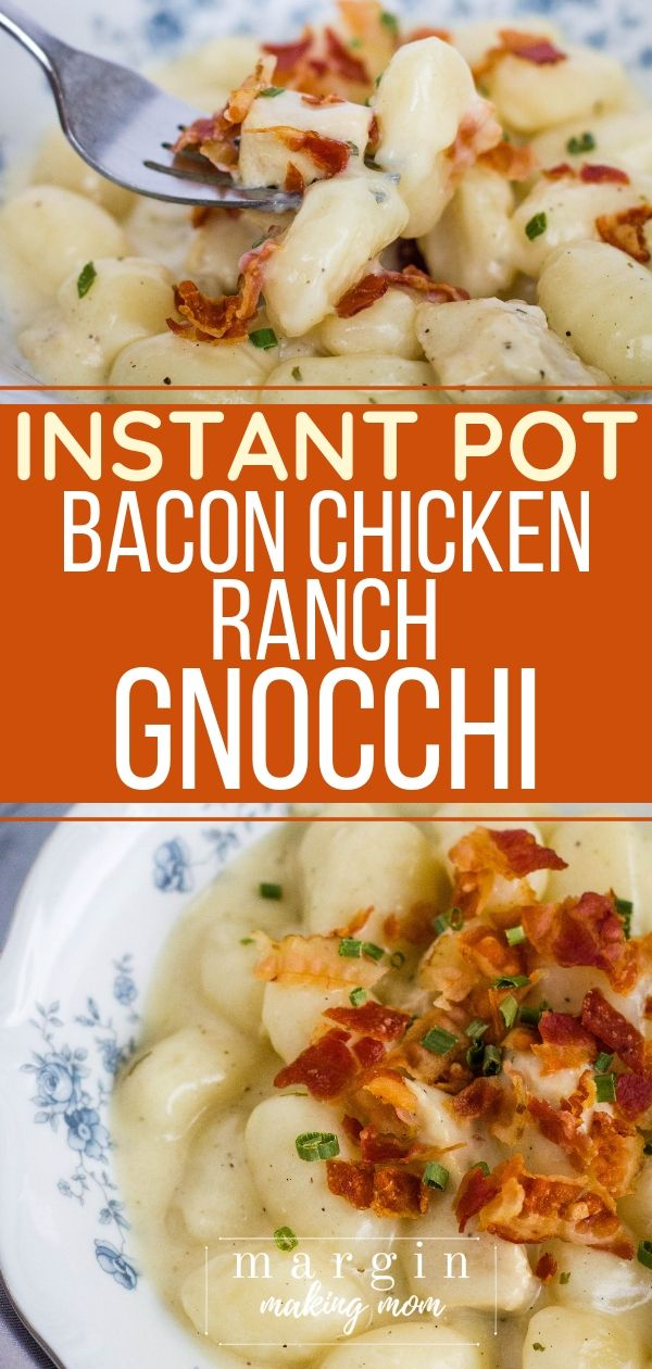 Instant Pot Bacon Chicken Ranch Gnocchi images