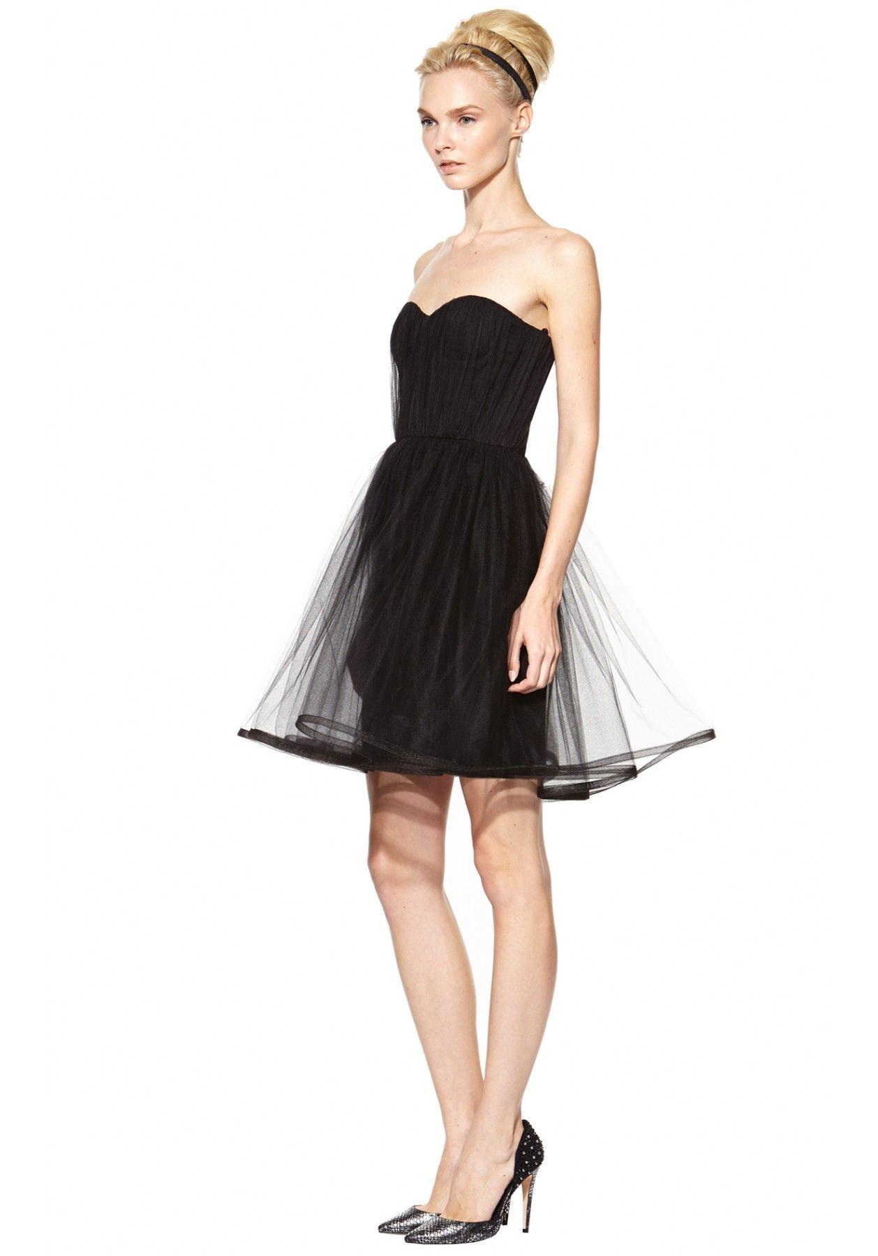 850e5739ae ALICE + OLIVIA GATHERED CINCHED WAIST POUF DRESS