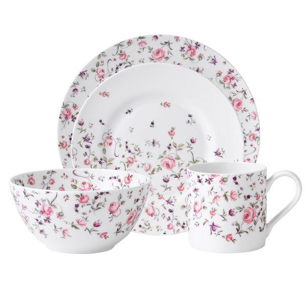 royal albert u0027new country rosesu0027 rose confetti casual 16piece dinnerware set