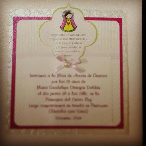 Invitación Para Misa De 15 Años 15 Años Fiesta Y Invitaciones