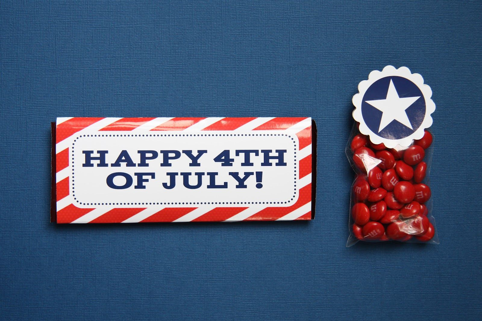 4th of july candy wrapper