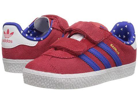 sneakers for cheap 80fa8 30485 adidas Originals Kids Gazelle 2 CF (Toddler) Joy Bold Blue Footwear White -  Zappos.com Free Shipping BOTH Ways