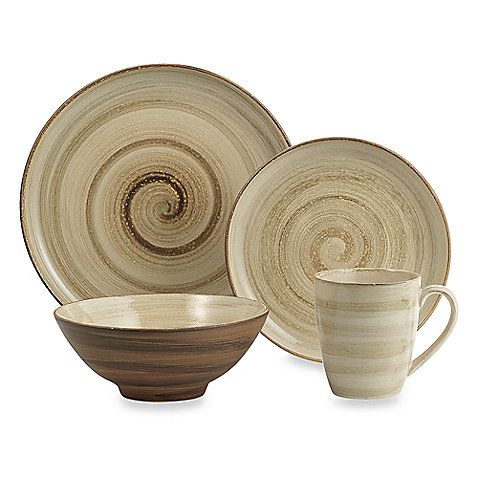 Sango Patio Brown 16 Piece Dinnerware Set
