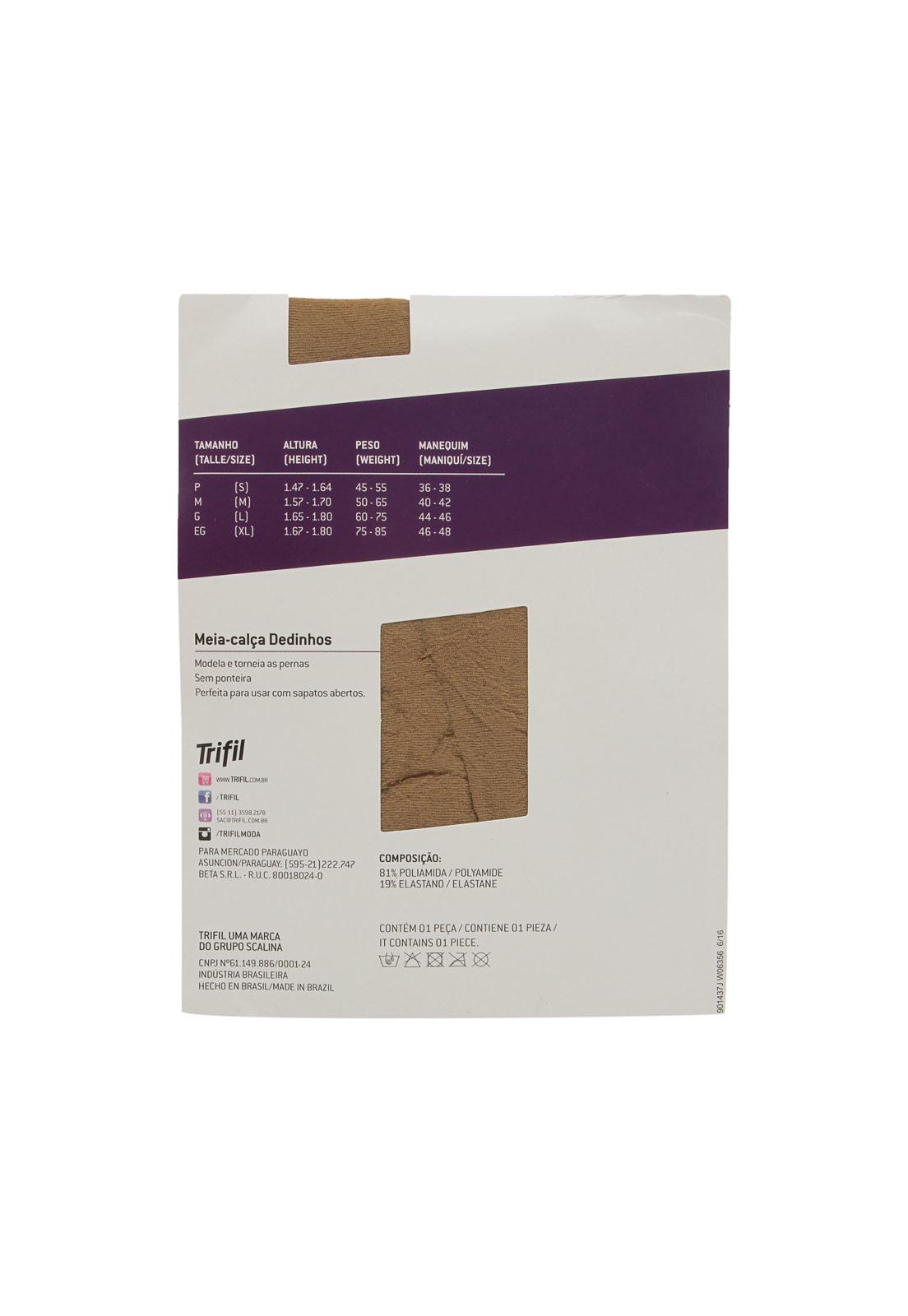 104f60b831 Meia-Calça Trifil Dedinhos de Fora Fio 10 Bege