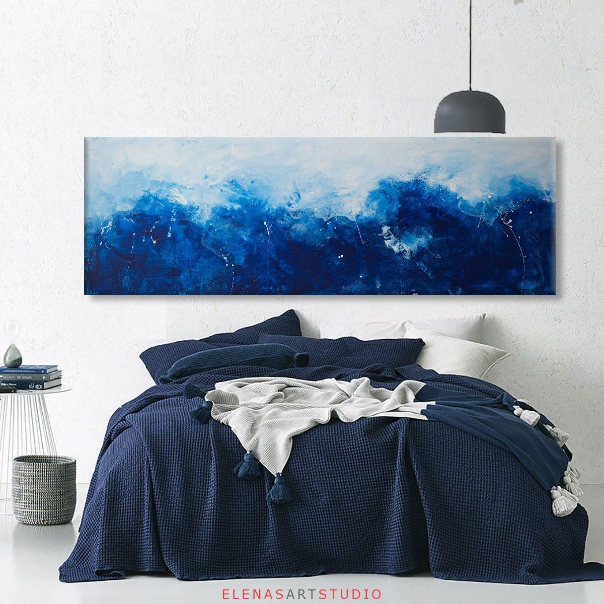 Abstract Seascape Print Grey Blue Art Large Abstract Art Long Etsy Seascape Print Large Abstract Extra Large Art Prints
