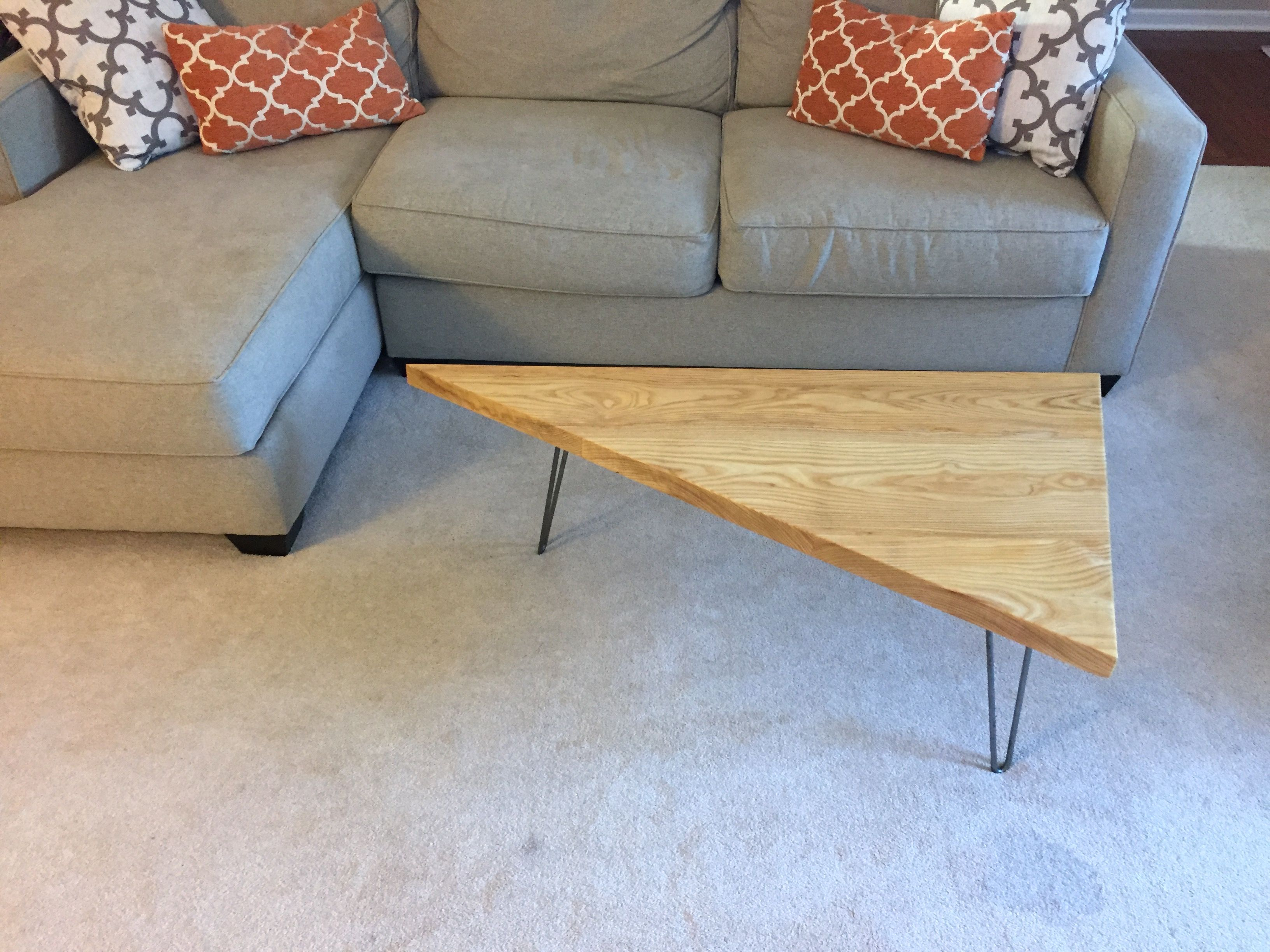 How To Build A Triangle Coffee Table with Hairpin Legs