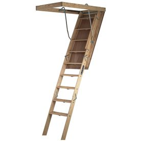 Louisville Big Boy 7 Ft To 8 Ft Type Ia Wood Attic Ladder S305p Attic Ladder Attic Stairs Attic Renovation
